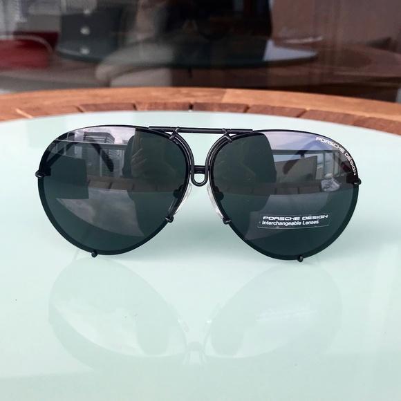 38a3c8681aeb NWT Porsche P8478 D 66mm Dark Ruthenium Sunglasses. Boutique. Porsche Design